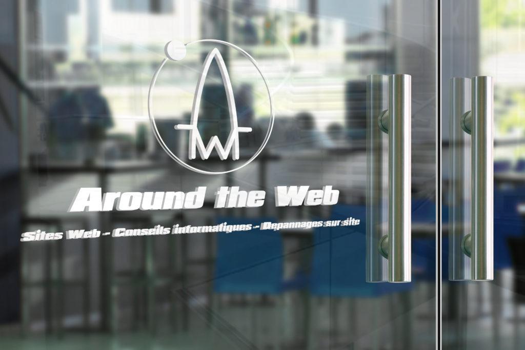 Votre logo en enseigne sur une porte vitrée