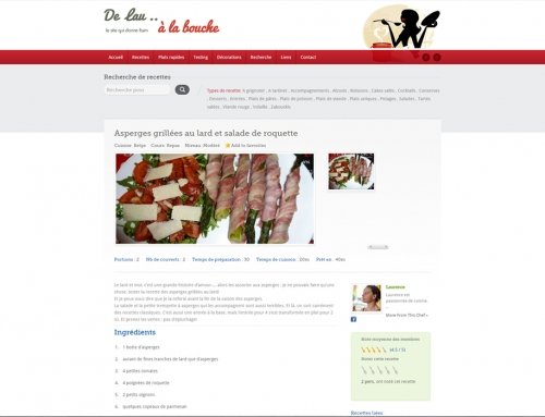 Site web De Lau à la Bouche