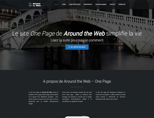 Site web One Page