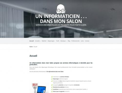Site web Un Informaticien dans mon Salon