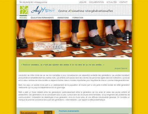 Site web Ag'Y Sont asbl