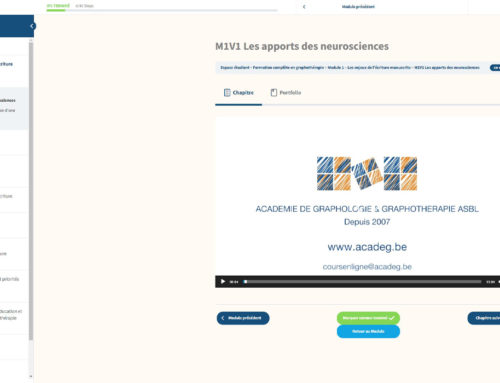 Plateforme d'e-learning – ACADEG asbl